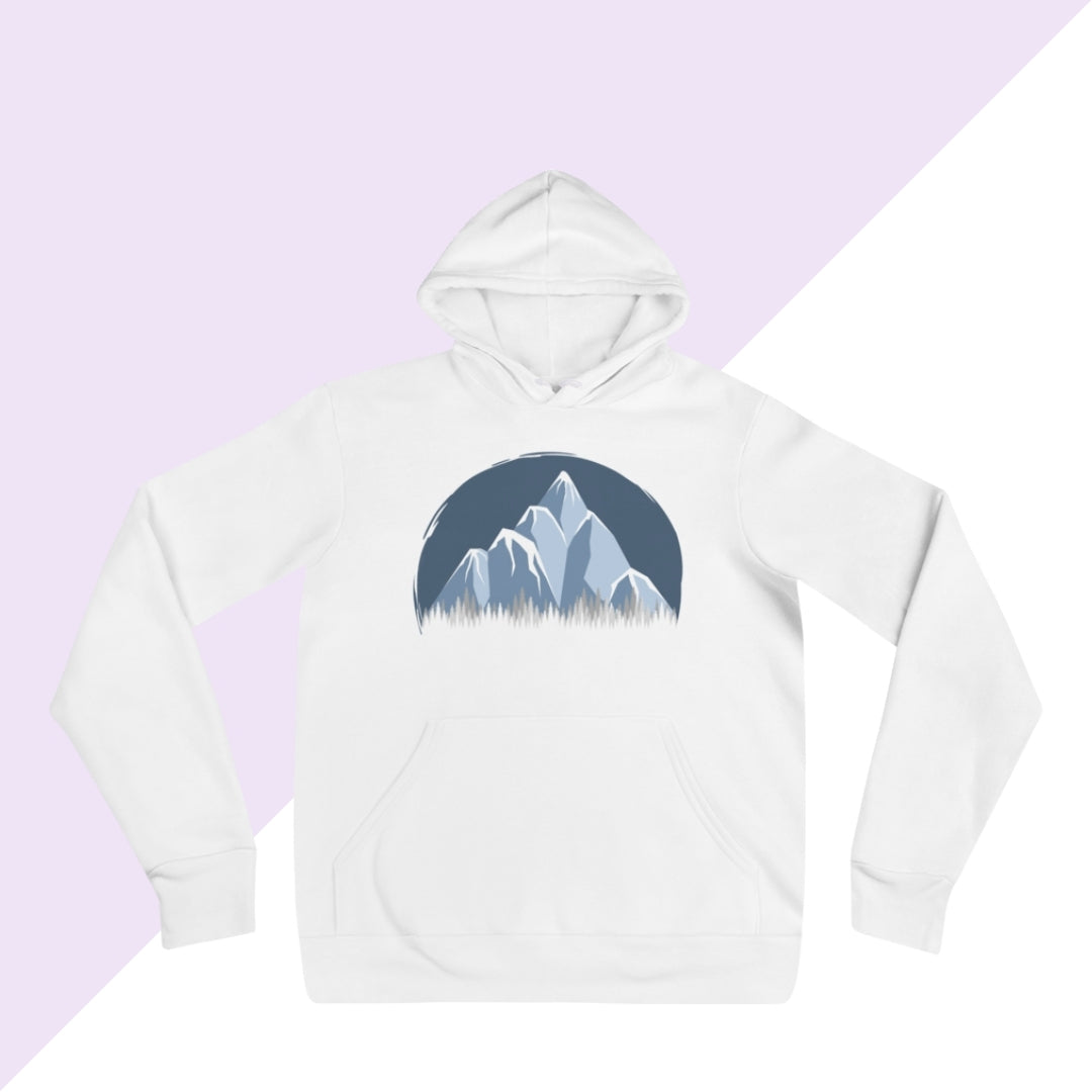 Icy mountain forest hoodie
