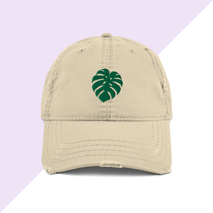 Monstera Leaf Dad Hat Plant Baseball Cap