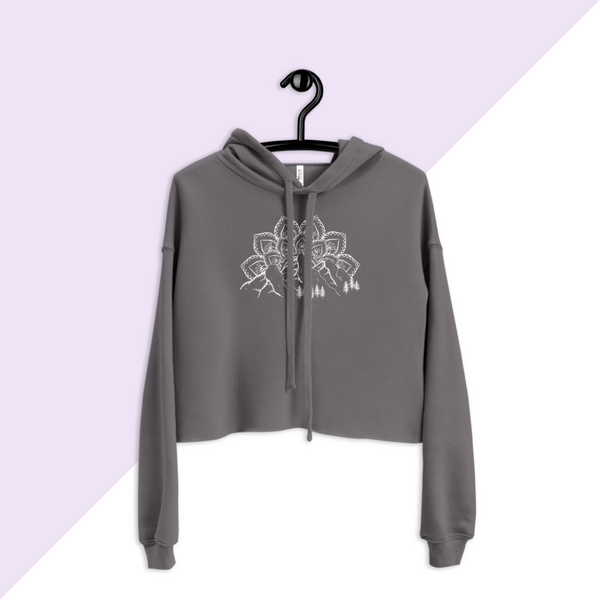 Gray Mountain, Mandala, and Evergreen Tree Hoodie Sweatshirt
