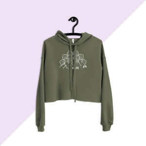Military Green Mountain, Mandala, and Evergreen Tree Hoodie Sweatshirt