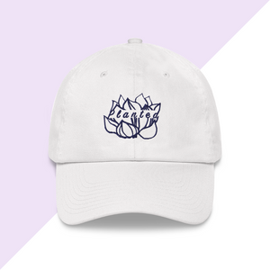 Embroidered Planted Lotus Flower Hat or Baseball Cap