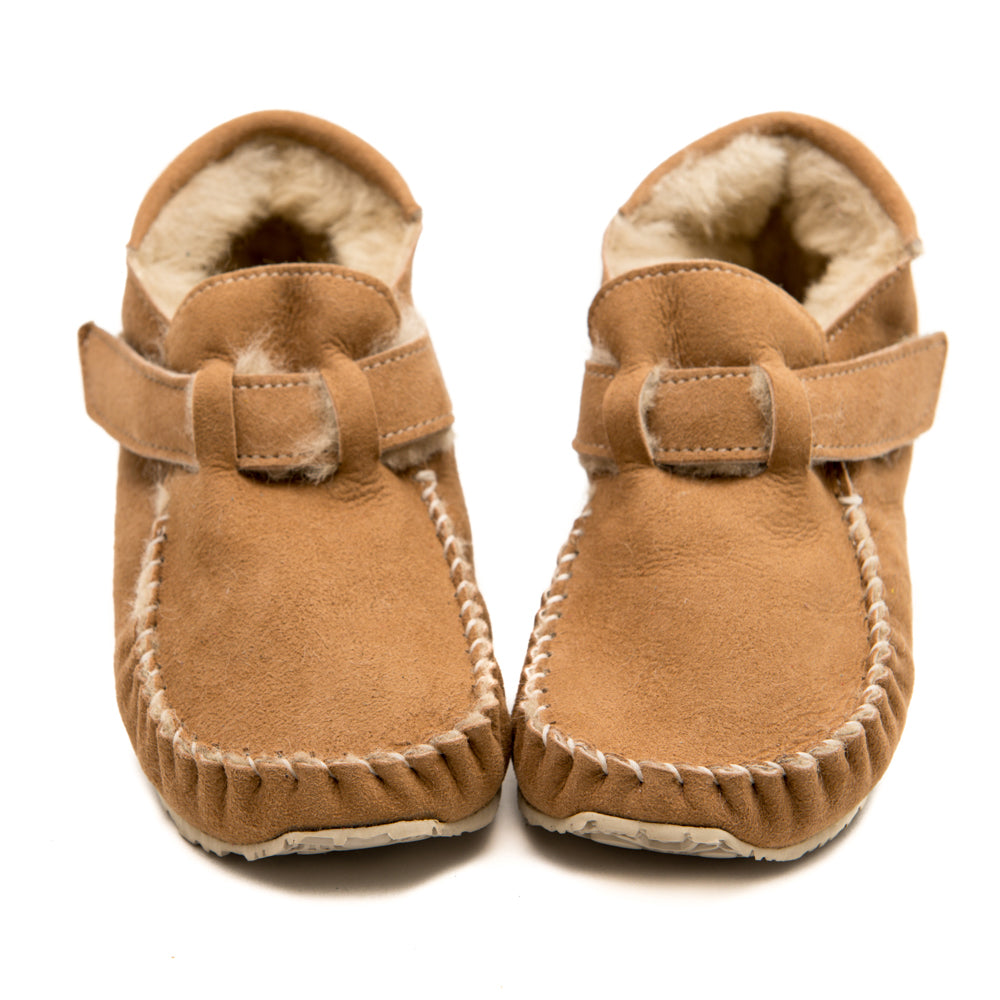 LEO Sheepskin - Sheepskin Shoes for Kids, 100% Barefoot