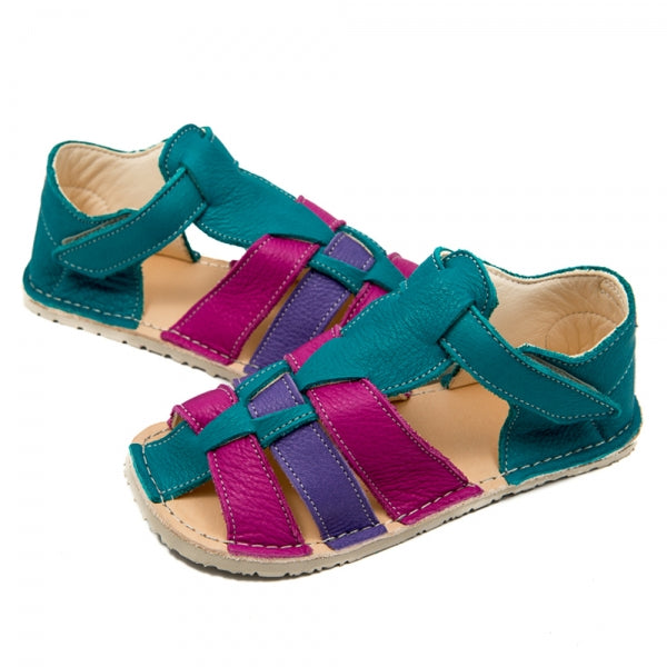 MARLIN Turquoise with Pink and Purple in Vegetable Tanned Leather