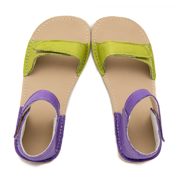 ARIEL Green with Purple in Vegetable Tanned Leather