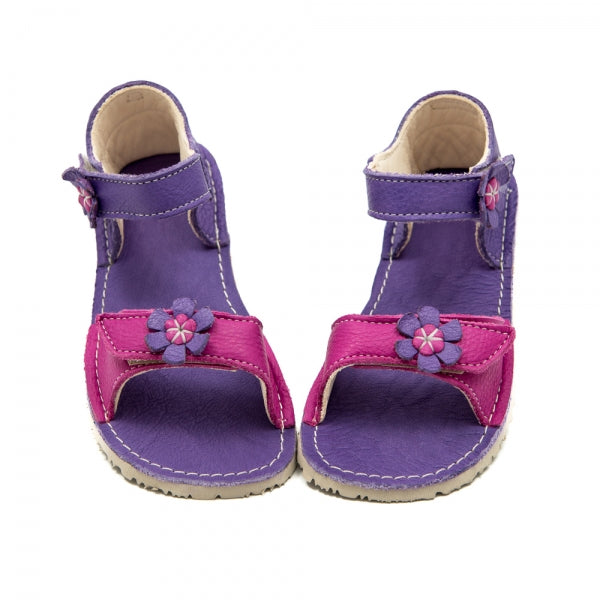 ARIEL Purple with Pink in Vegetable Tanned Leather
