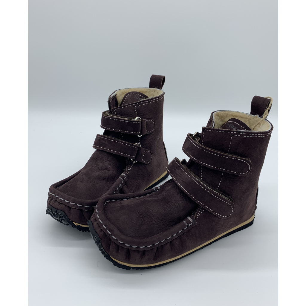 YETI Brown with Waterproof leather, Sheepskin Lining, Double-Layer Sole, Barefoot