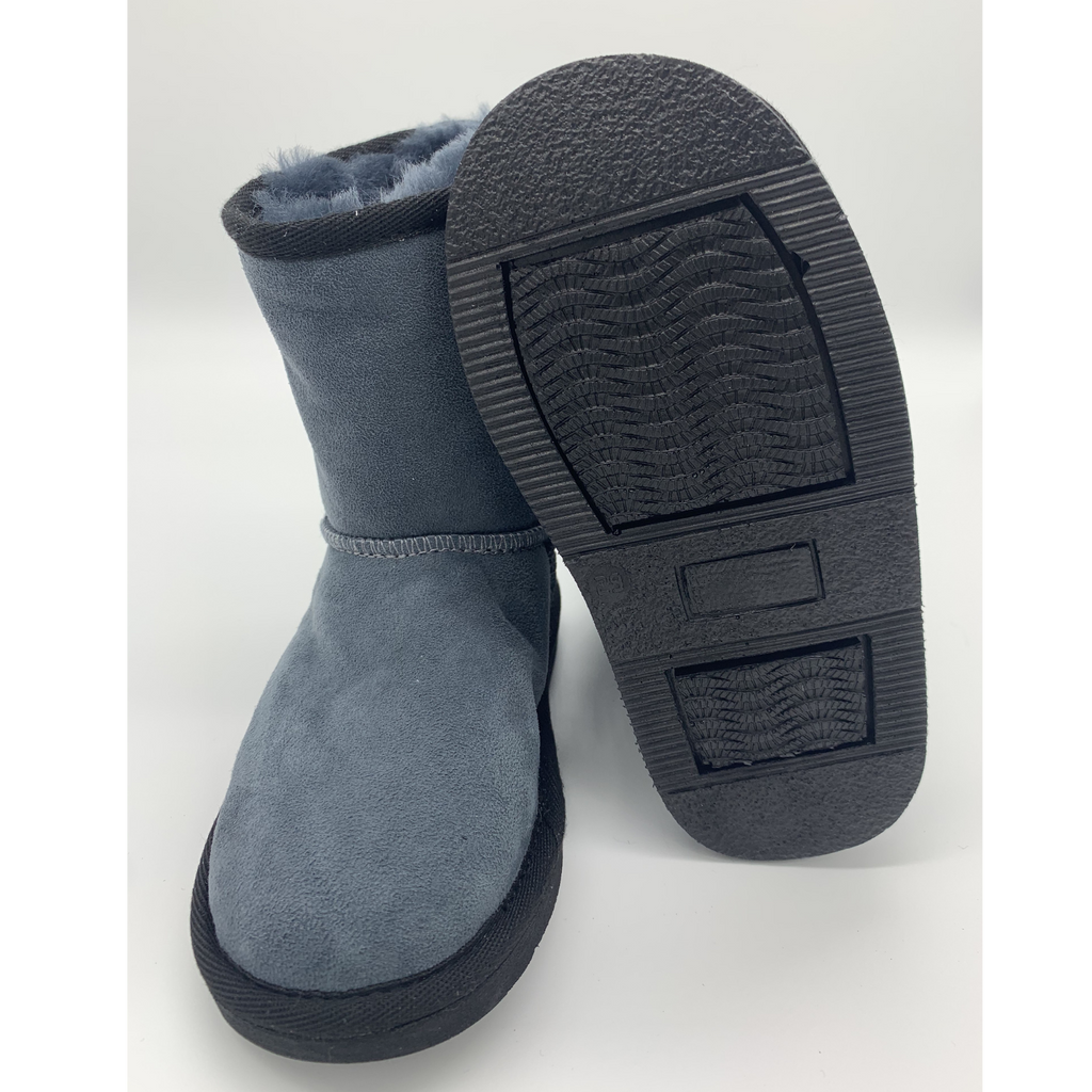 Classic Sheepskin Boots for Kids - Navy, Suede