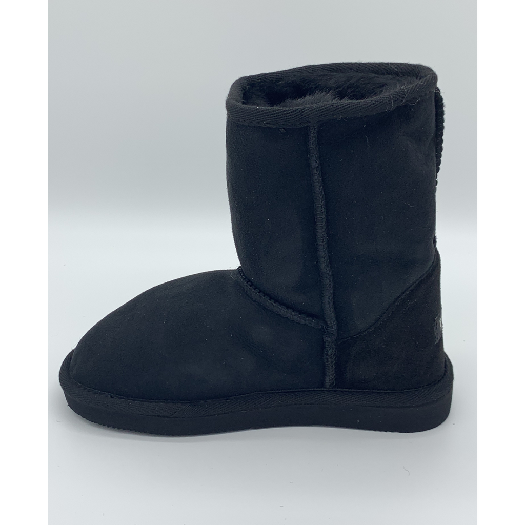 Classic Sheepskin Boots for Kids - Black, Suede