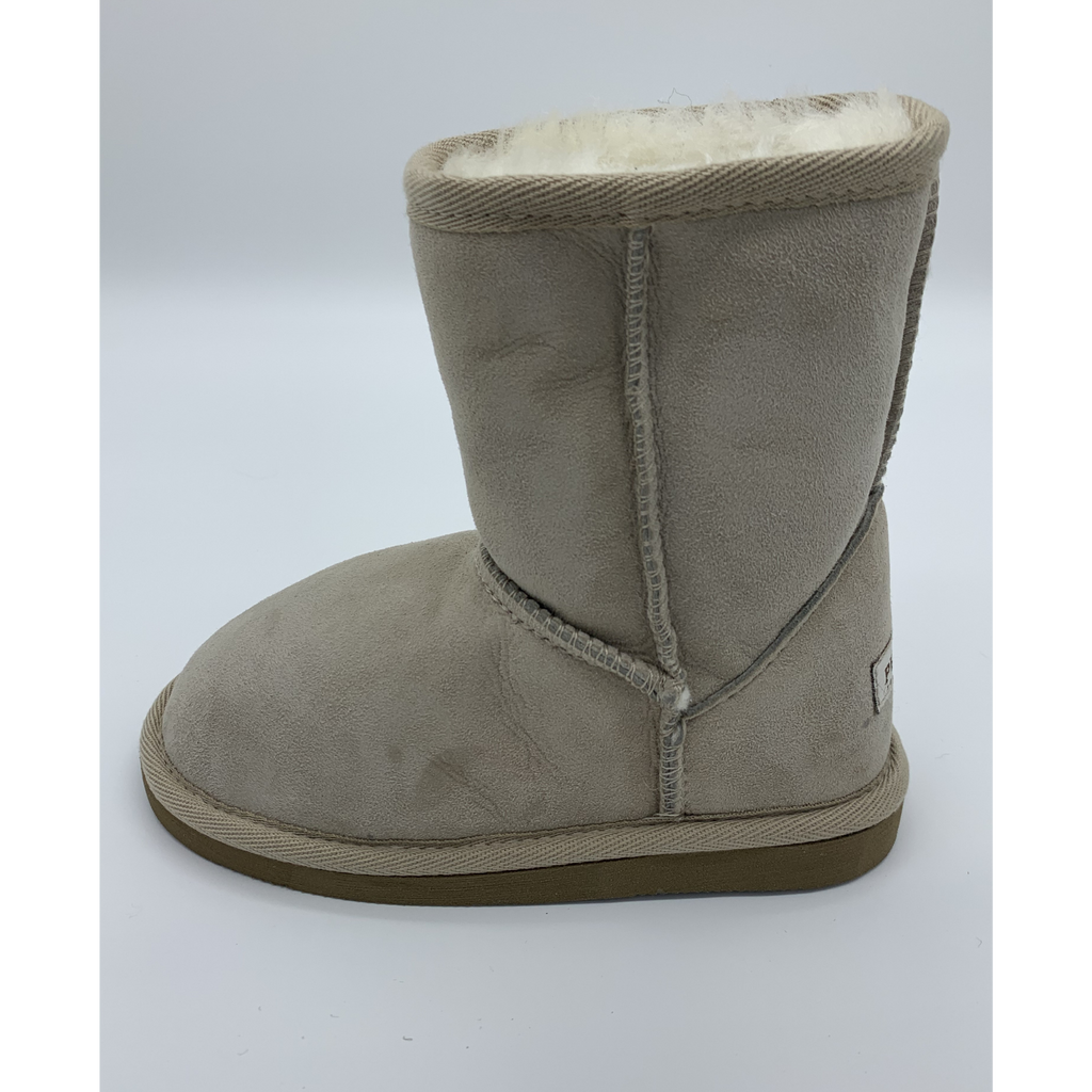 Classic Sheepskin Boots for Kids - Beige, Suede