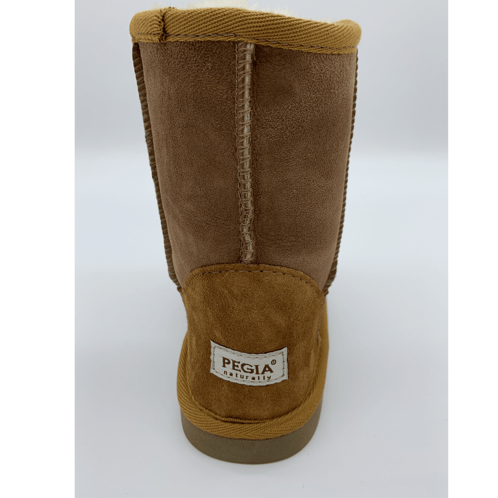 Classic Sheepskin Boots for Kids - Camel, Suede