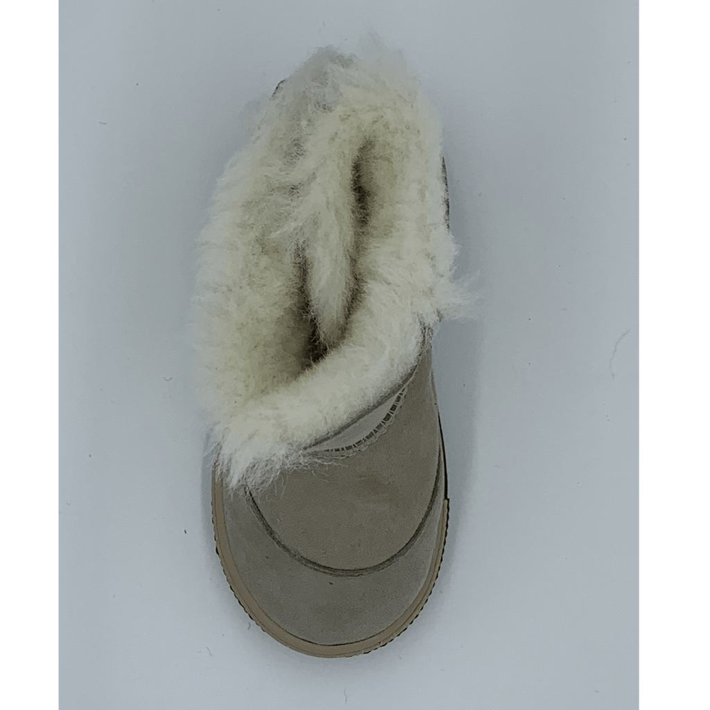 FIGO Sheepskin Boots for Kids - Beige, Suede