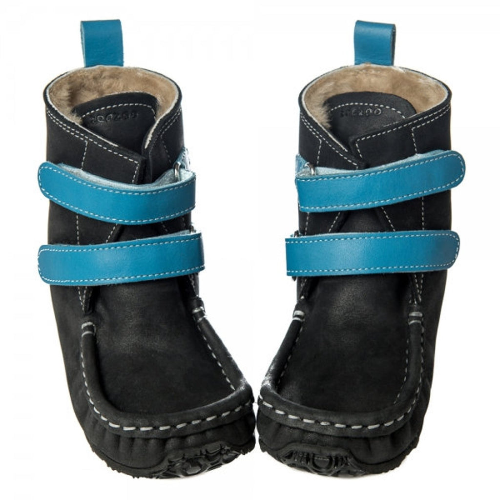 YETI Black-Blue with Waterproof leather, Wool Lining, Barefoot Max