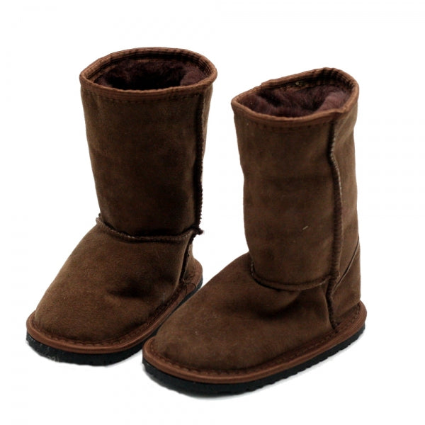 DINGO Brown - Tall, Sheepskin Leather, Barefoot Max