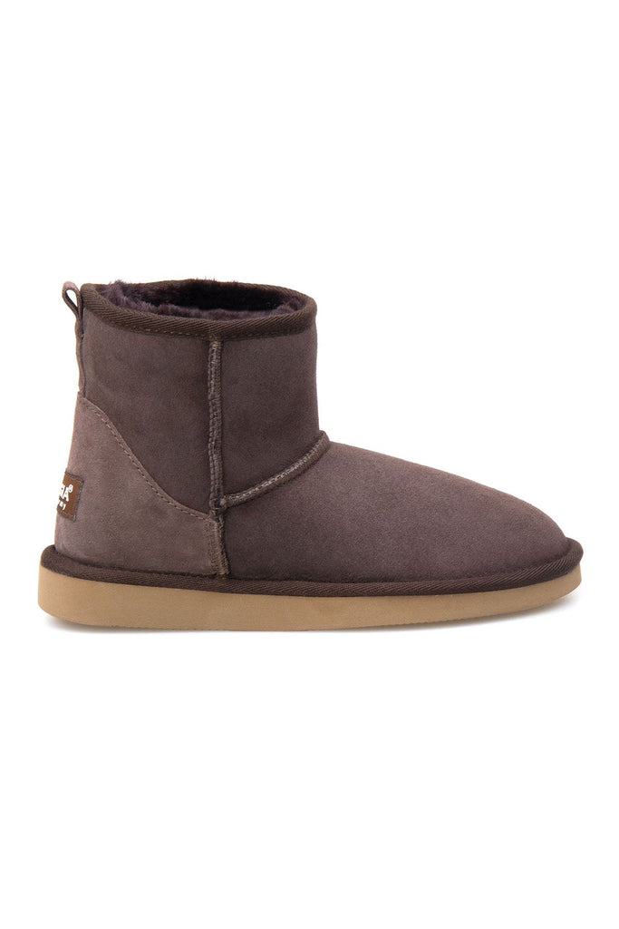 Classic Sheepskin Boots for Ladies - Brown, Suede
