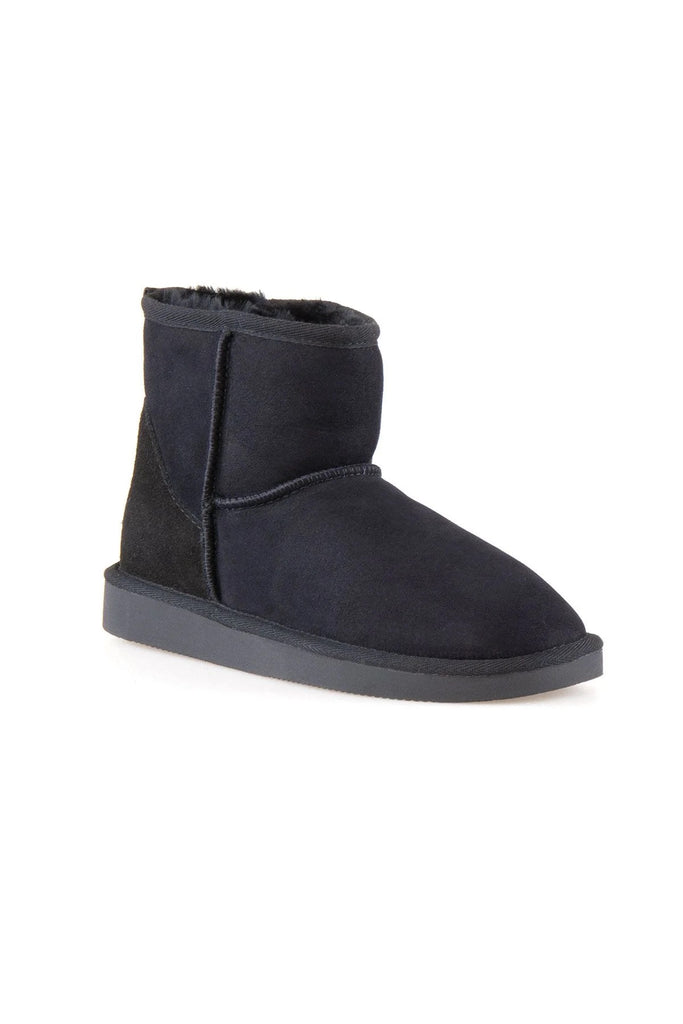 Classic Sheepskin Boots for Ladies - Black, Suede