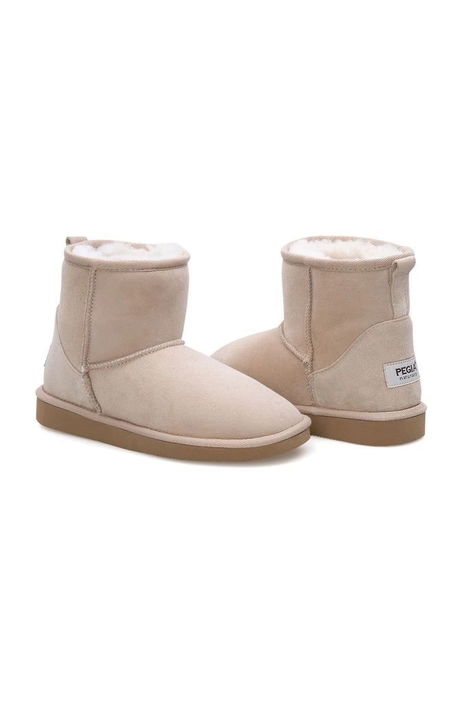 Classic Sheepskin Boots for Ladies - Beige, Suede