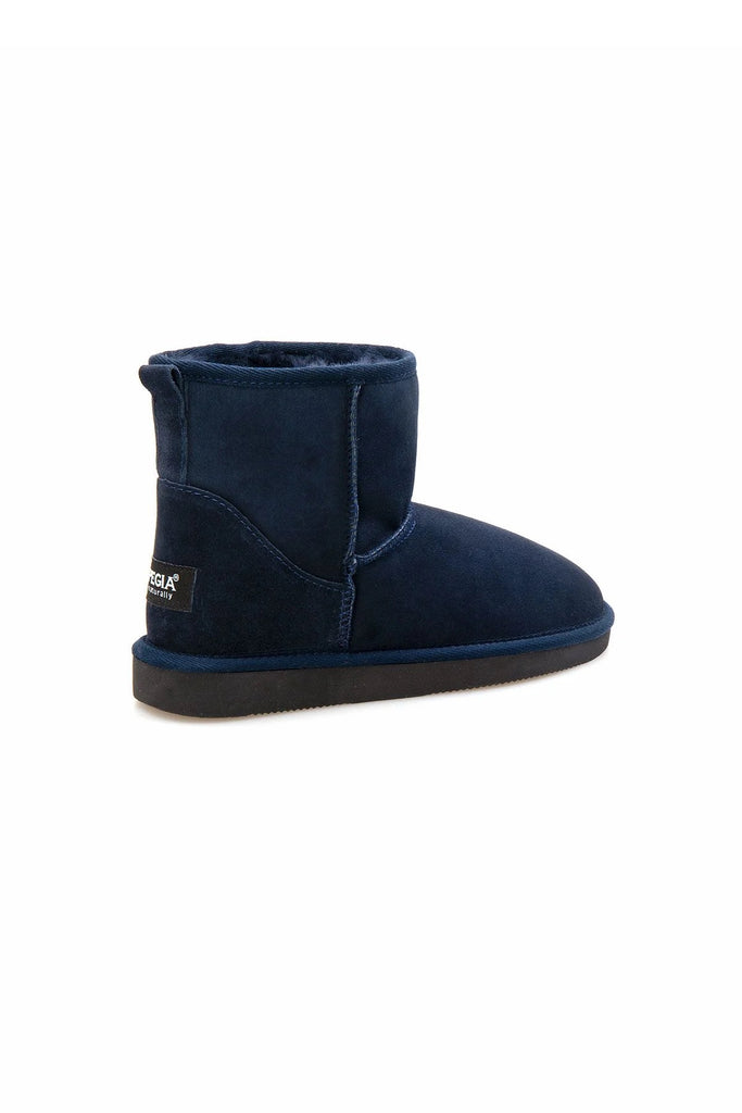 Classic Sheepskin Boots for Ladies - Navy, Suede