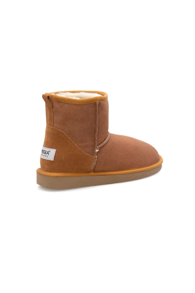 Classic Sheepskin Boots for Ladies - Camel, Suede