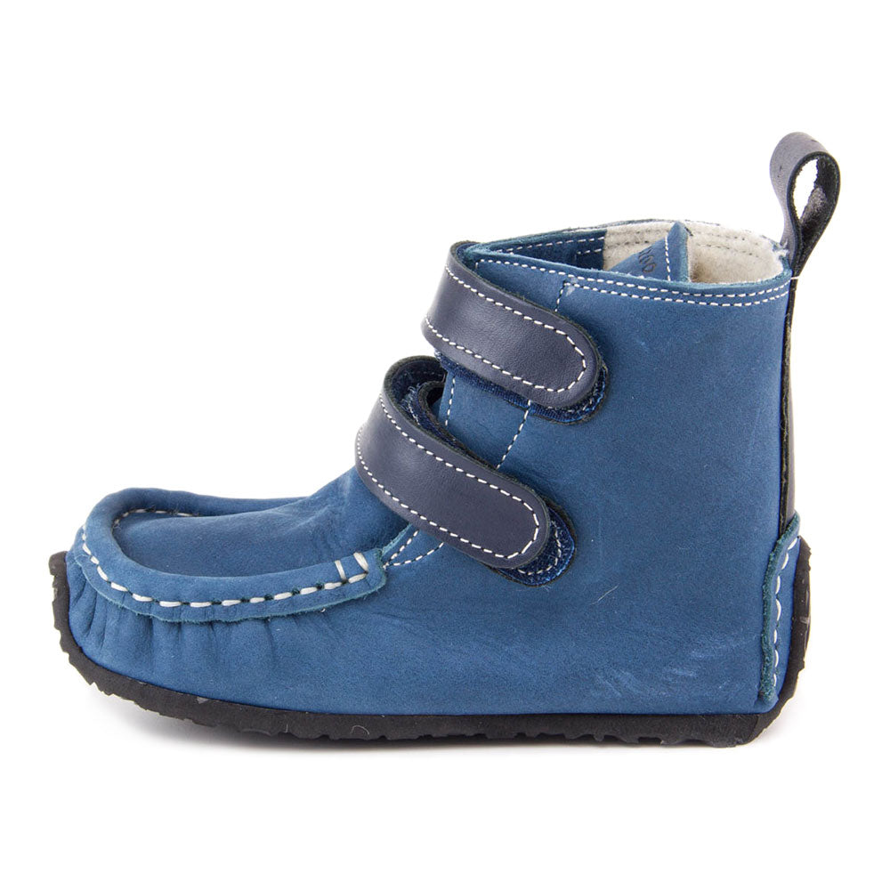 YETI Blue with Waterproof leather, Wool Lining, Barefoot Max