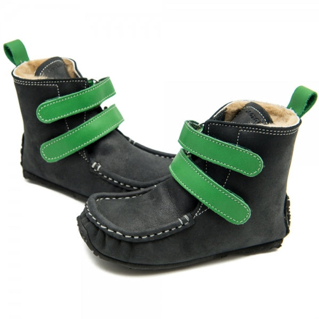 YETI Black-Green with Waterproof leather, Wool Lining, Barefoot Max