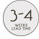 3-4 weeks leadtime