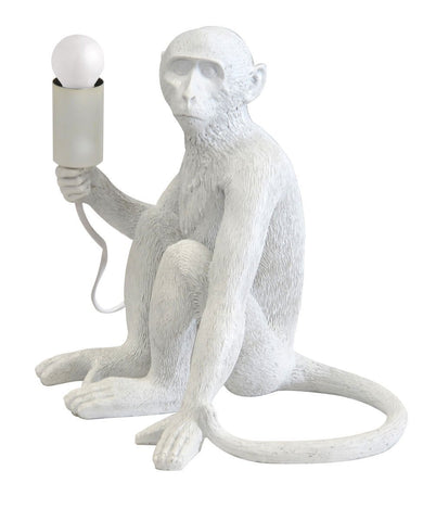 Resin Monkey Lamp
