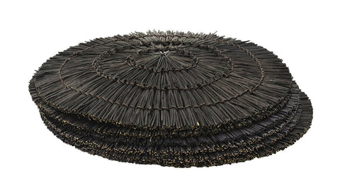 SHAGREEN MIRROR ROUND BLACK