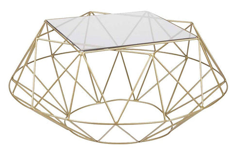 Facet Coffee Table Gold