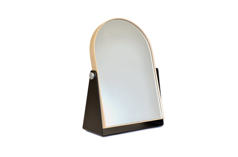 Deep Frame Round Mirror White