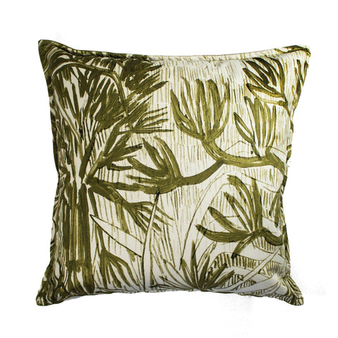 Cactus Silk Cushion Yellow
