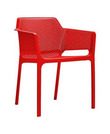 Netted Chair with Armrests