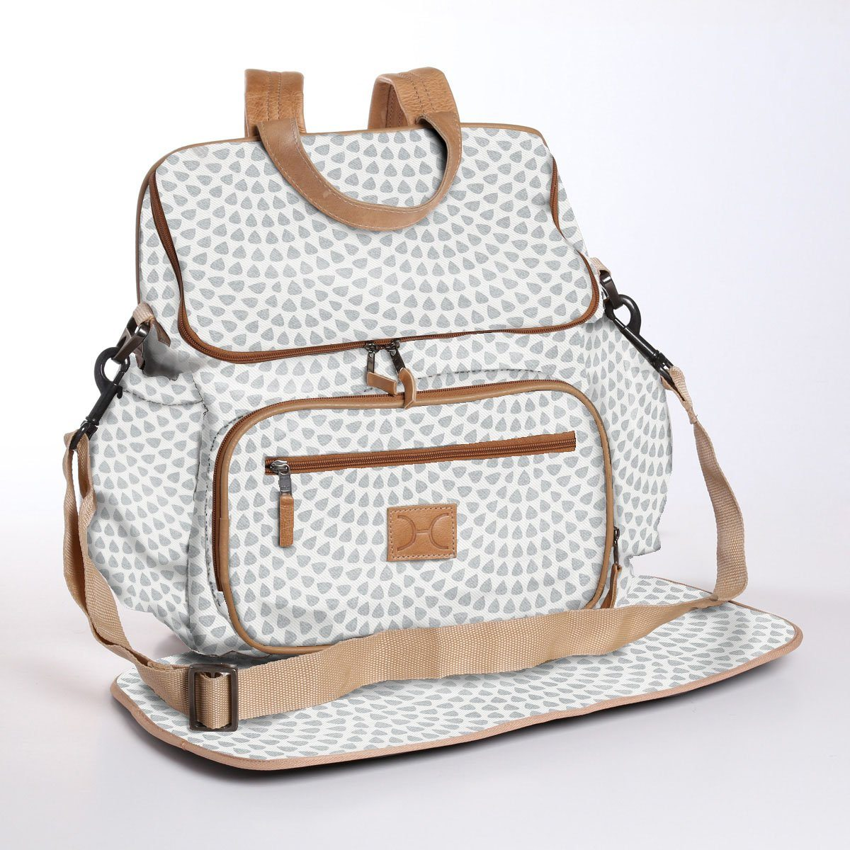 Nappy Backpack + Changing mat - Laminated Fabric