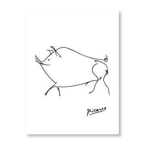 Picasso Animal Line Drawing Set 12