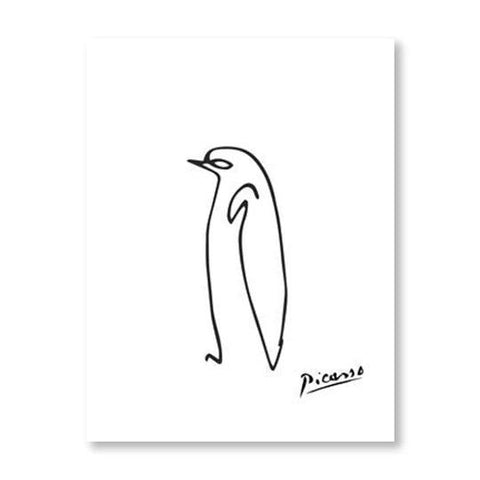 Picasso Animal Line Drawing Set 4