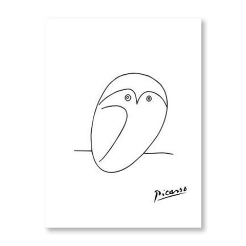 Picasso Animal Line Drawing Set 8