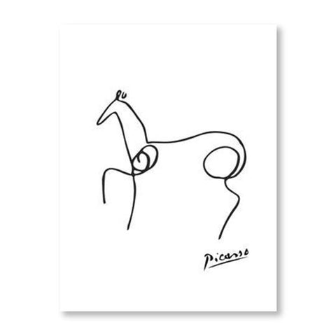 Picasso Animal Line Drawing Set 9