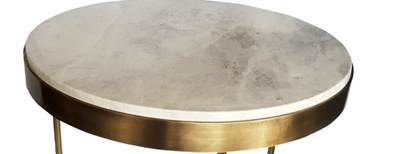 Antique Brass Plated Orion Side Table