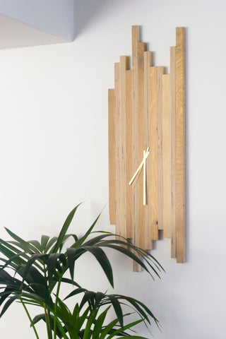 Straight up Birch & Oak Clock - Esque