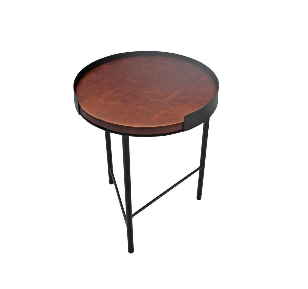 Mixme Nesting Tables Leather Top - Esque