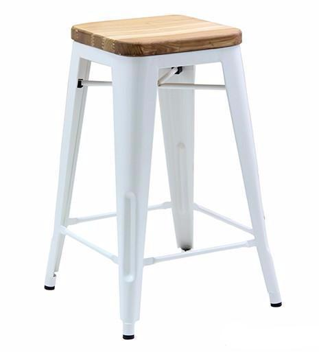 Tolix Bar Stool with Timber seat