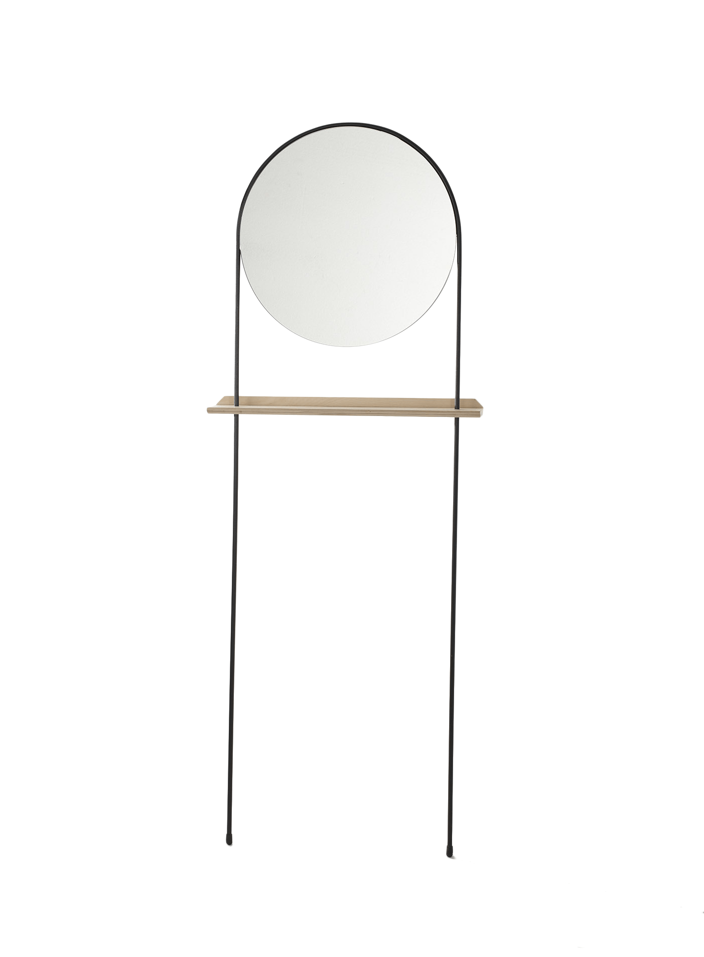Long Legged Round Mirror