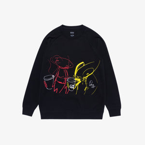 FL Alchemist Art Café Crewneck Sweater - Black
