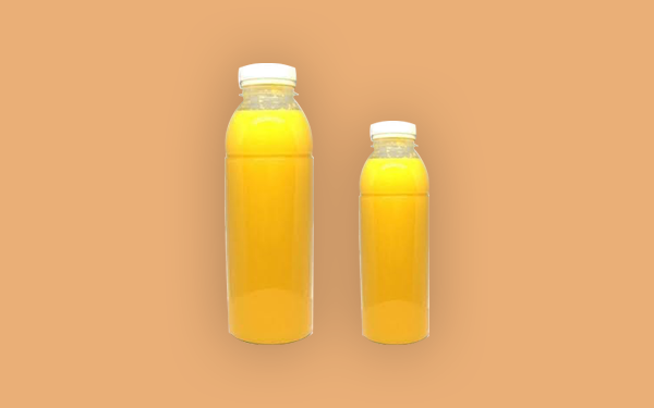 Verse jus d'orange per halve of hele liter