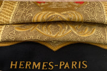 Load image into Gallery viewer, HERMÈS Vintage Poste et Cavalerie Silk Scarf Face Mask