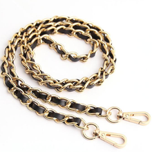 Load image into Gallery viewer, Woven Leather & Gold Complete Chain™ exclusively at VintageLuxeUp.com
