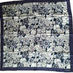 Load image into Gallery viewer, Authentic CHANEL Vintage Lucky Cat Silk Scarf Face Mask exclusively at VintageLuxeUp.com