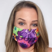 Load image into Gallery viewer, Authentic ETRO Vintage Floral Linen Scarf Face Mask exclusively at VintageLuxeUp.com