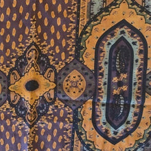Load image into Gallery viewer, Authentic ETRO Vintage Orange Paisley Featherweight Wool/Silk Scarf Face Mask exclusively at VintageLuxeUp.com