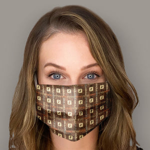 FENDI Vintage Logo Cotton Scarf Face Mask