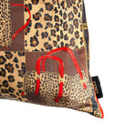 "Load image into Gallery viewer, Authentic FENDI Vintage Leopard Camouflage Pillow Cover 22"" exclusively at VintageLuxeUp.com"